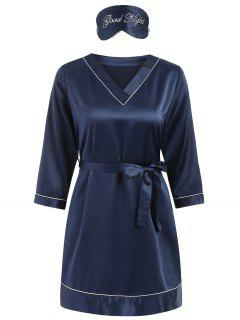 Stain Sleep Dress - Denim Dark Blue Xl