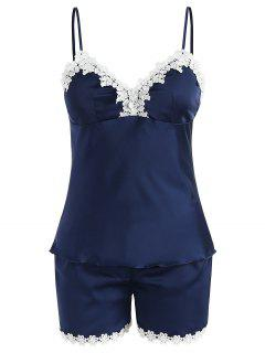 Removable Pad Sleep Camisole Set - Blue Jay M
