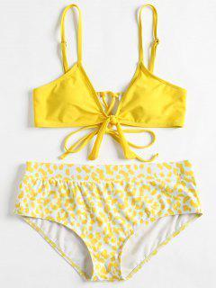 Cami Plus Size Printed Bikini - Yellow 2x