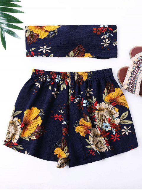 Mini top con estampado de flores y pantalones cortos - Azul Marino XL Mobile