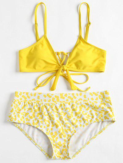 7fb13e292a1 Cami Plus Size Printed Bikini - Yellow 4x