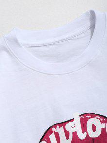 L Algod De De Letra Camiseta De Boca Blanco De Patr 243;n 243;n pPxwOa4q