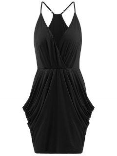Ruched Cami Dress - Black L
