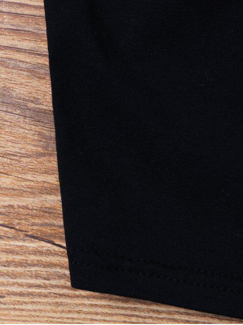 lady Cut Out Crop Cami Top - BLACK XL Mobile