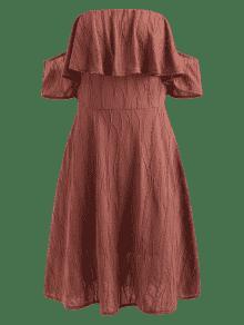 Hombros Hombros Con Descubiertos Rojo S Y Descubiertos Cereza Vestido PIqxvBx