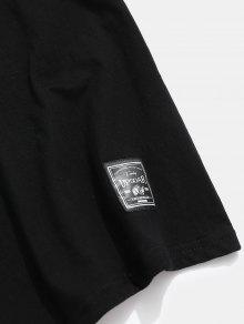 Con Letras L Negro Bordada Corta De Manga Camiseta qCIwZv4