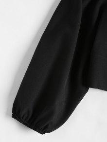 Blusa Volantes Y S Con Corta Cordones Negro SACrSq