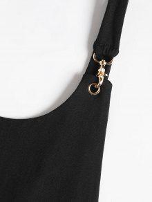 M Metallic Rings Abierta Negro Bodysuit Trasera Parte YEqwSpn