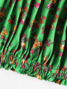 Con Y Verde Primavera Hombros M Top Florales Descubiertos 4Td48x