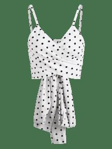 Cami Wrap Polka Dot S Top Blanco 8AxR6qU