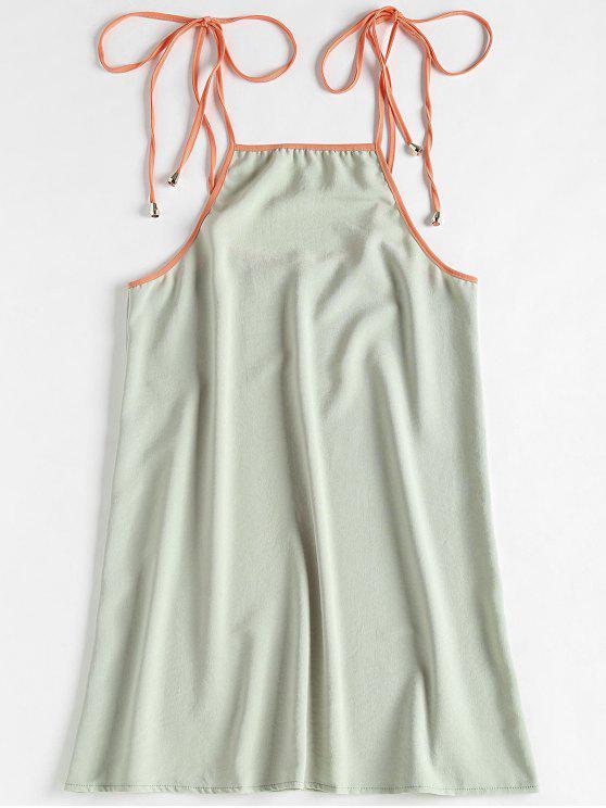 فستان شريط ربطة - إبهام أخضر L