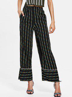 Pantalon à Imprimé Géométrique à Taille élastique  - Noir M