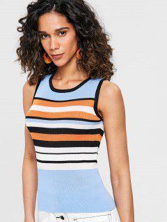 Stripe Knit Tank Top - Multi
