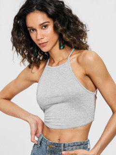 Top Criss Cross Cami à Lacets - Nuage Gris S