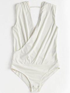 Body Crossover Sin Mangas - Blanco L