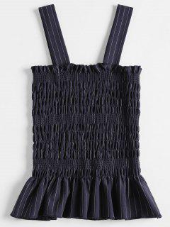 Smocked Ruffles Tank Top - Midnight Blue