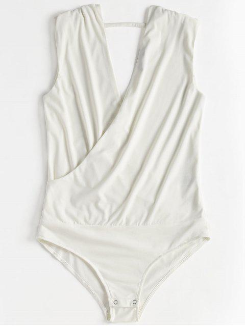 outfit Sleeveless Crossover Bodysuit - WHITE S Mobile