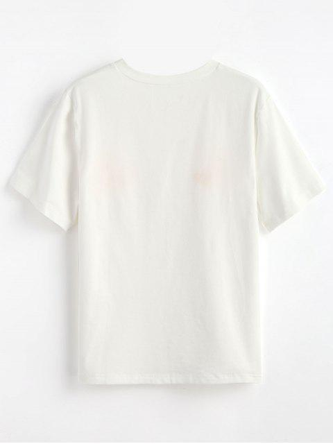 outfits Cute Moons Graphic T Shirt - WHITE XL Mobile