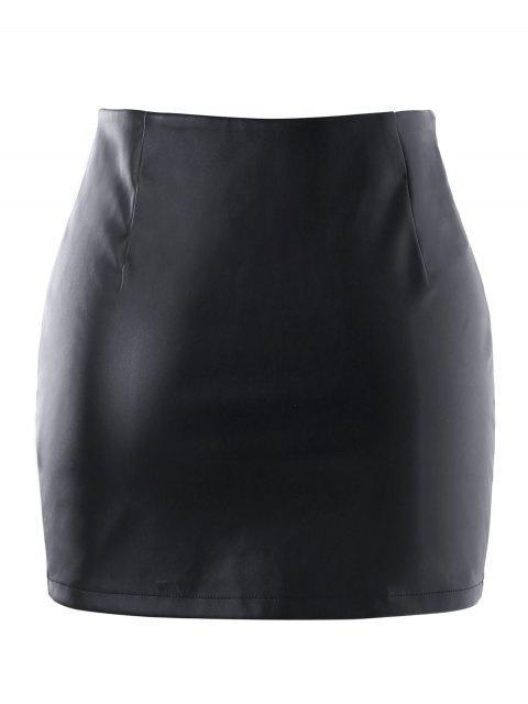 Falda de cremallera PU - Negro S Mobile