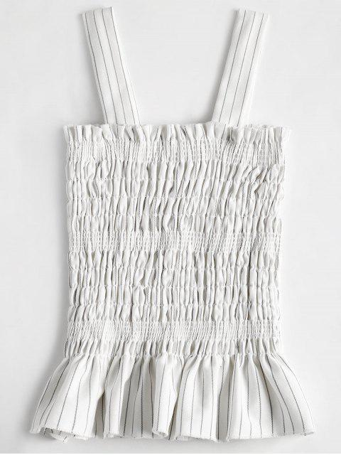 shops Smocked Ruffles Tank Top - WHITE ONE SIZE Mobile