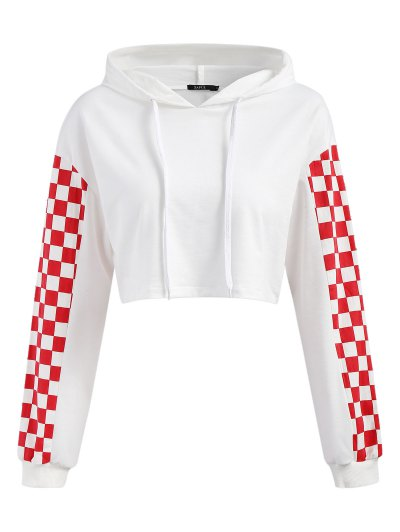 fd457f0030 Cropped Contrast Square Hoodie - Red Xl