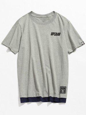 Kurzarm Baumwoll Freizeit T-Shirt