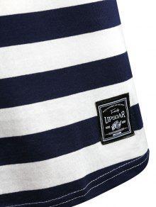Oscuro Pizarra De Azul Hombros M A Ca Rayas Con 237;dos Camiseta xn8wzqfApg