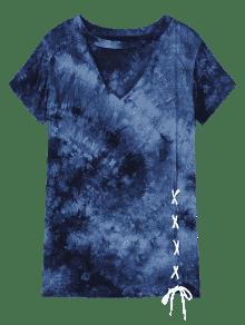 Claro 3xl Talla Azul Efecto Con Dye Tie Cortada qxAO0BzAY
