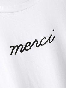 T M Shirt Graphic Letra Blanco gp5qvOpWwx