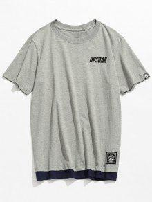 Corta Gris Algod 243;n De Camiseta 2xl Casual Manga De wSHyfF