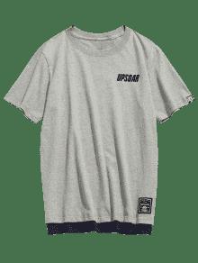 De Camiseta Algod Corta 2xl 243;n De Manga Casual Gris 1qwnZPxB