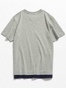 Corta De 243;n Camiseta Casual Manga Gris 2xl De Algod YqYtx5