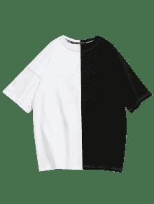 De Dos Camiseta En Bordado Hombros Con Ca Tonos gqFtwFd
