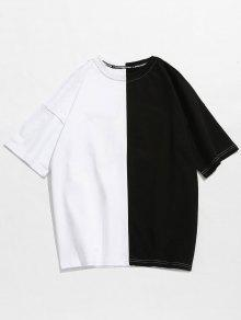 Bordado Hombros Dos De Ca Con Tonos Camiseta En qzT5wFZF