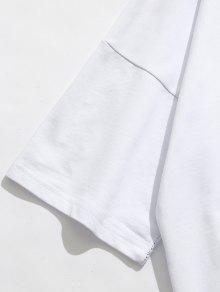 En Con Bordado Ca Hombros De Tonos Dos Camiseta X6E0qE