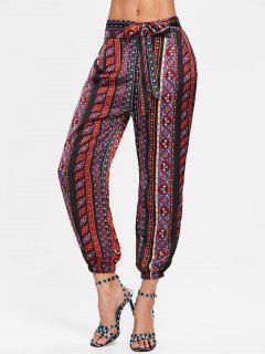 Pantalon à Imprimé Tribal à Taille élastique  - Multi M