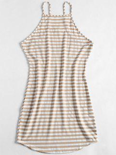 Cami Stripes Freizeitkleid - Holz Xl