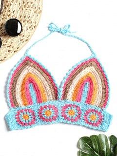 Striped Crochet Bralettte Top - Multi