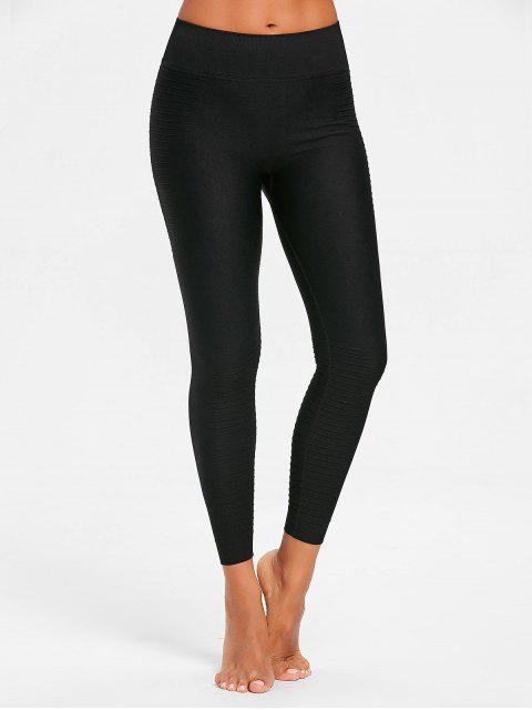 latest Stretch-jersey Moto Leggings - BLACK L Mobile