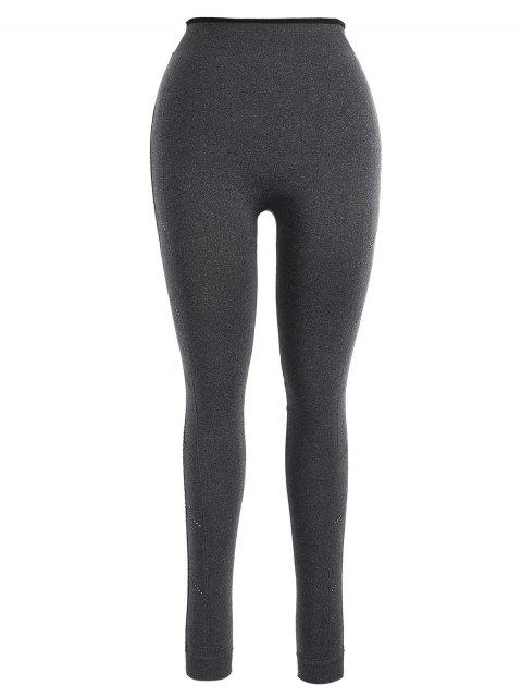 trendy Nice Graphic Sports Leggings - GRAY S Mobile