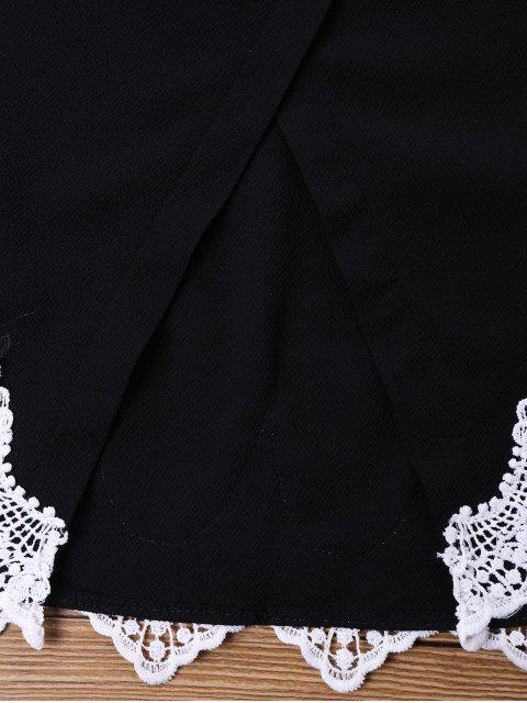 Pantalones cortos de ganchillo Pantalones cortos de dos piezas - Negro XL Mobile