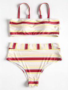 Tallas L Con Grandes Y Tinto Cami Bikini A Tira De Rayas Vino 70dRxwPqS