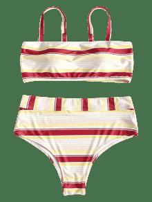 Tira Rayas Vino Con Tinto Bikini L De Tallas Cami Grandes Y A a5w5RHXq