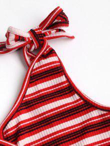 S Mangas Con Camiseta Sin Abierta Espalda Rojo xqYwOEw5