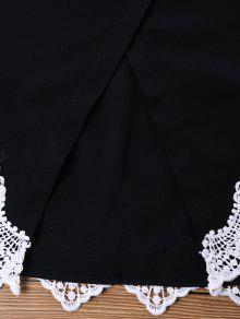 Negro Cortos Pantalones De Dos L De Piezas Cortos Pantalones Ganchillo cfq18vIq