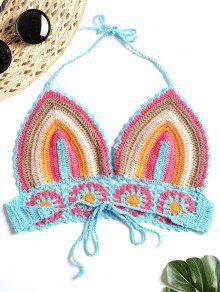 A De 233; Rayas Bralette Con Croch Multicolor Top dFXn6qw46
