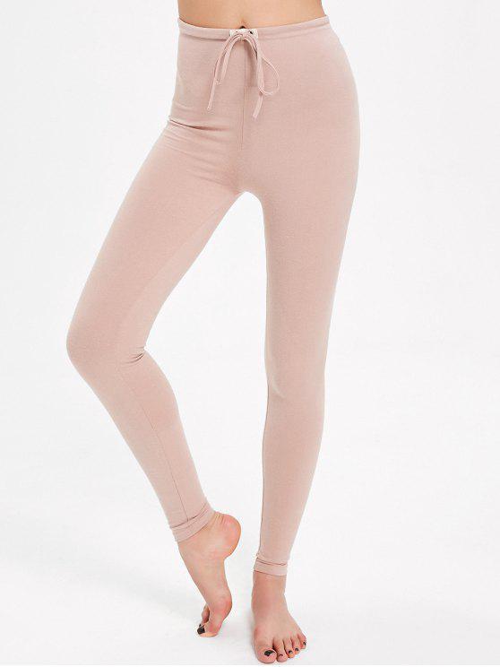Pantalon Brillant à Cordon de Serrage - ROSE PÂLE Taille Unique