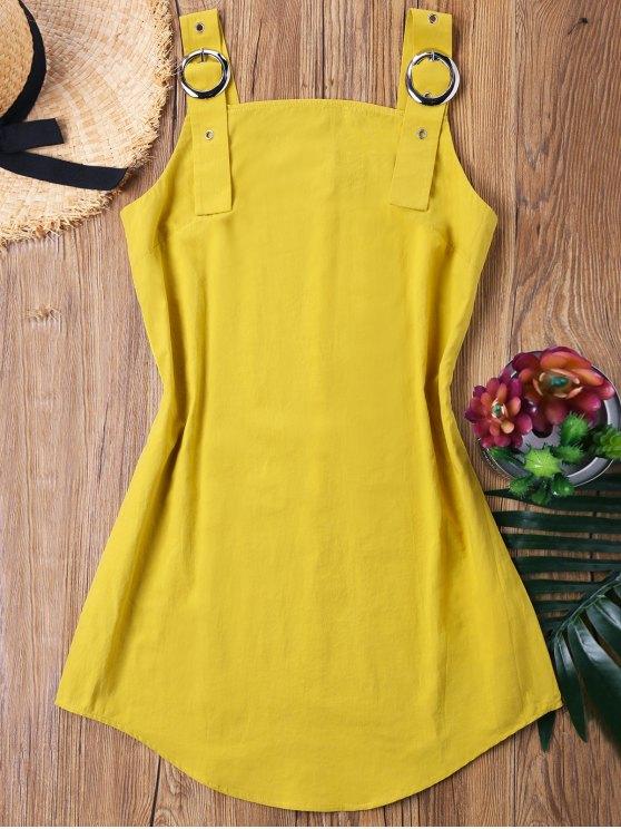 فستان مصغر شريط - الأصفر L