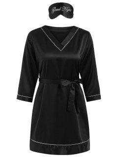 Stain Sleep Dress - Black L