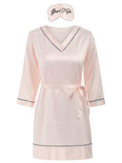 Fleck Schlaf Kleid - Pink Xl